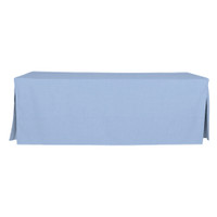 8-Foot Fitted Table Cover - Blue Chambray
