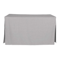 5-Foot Fitted Table Cover - Black Chambray