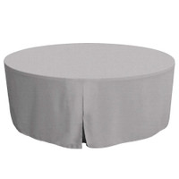 72-Inch Fitted Round Table Cover - Black Chambray