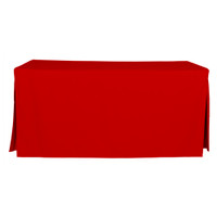 6-Foot Fitted Table Cover - Red