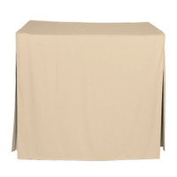 34-Inch Fitted Table Cover - Natural