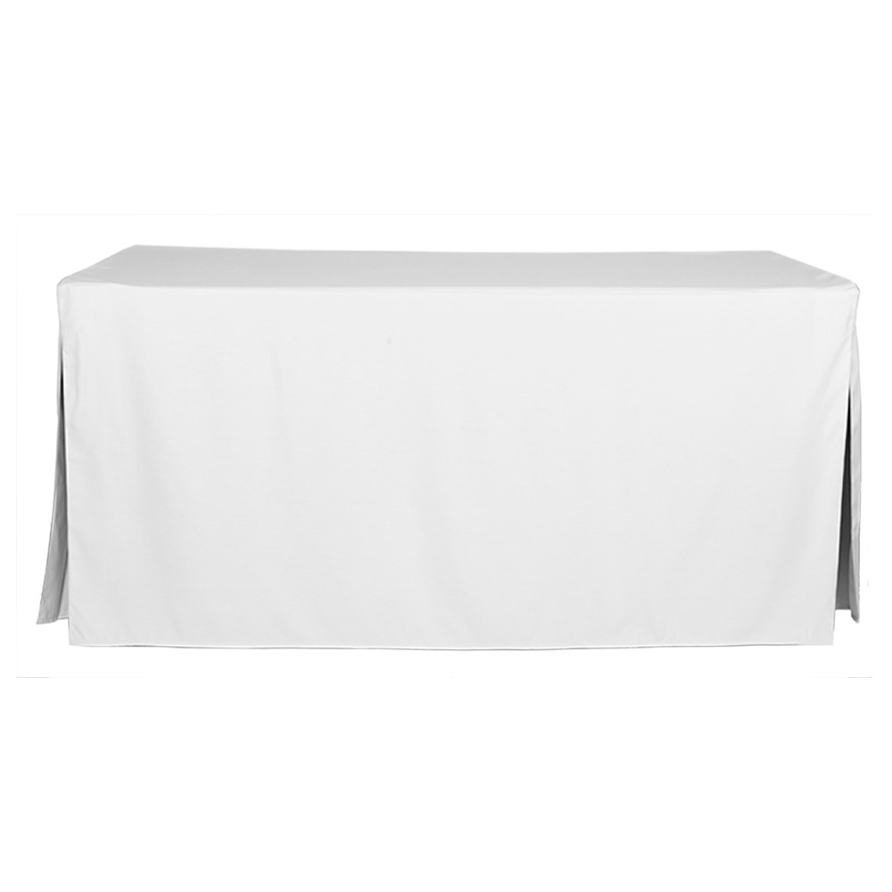 6 Foot White Table Cover