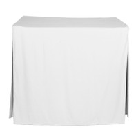 34-Inch Fitted Table Cover - White