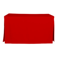 5-Foot Fitted Table Cover - Red