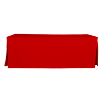 8-Foot Fitted Table Cover - Red