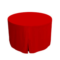 48-Inch Fitted Round Table Cover - Red