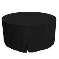 60-Inch Fitted Round Table Cover - Black