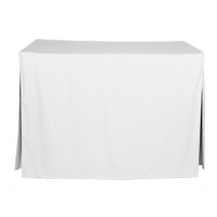 4-Foot Fitted Table Cover - White