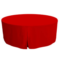 72-Inch Fitted Round Table Cover - Red