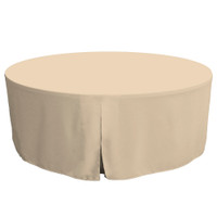 72-Inch Fitted Round Table Cover - Natural