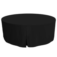 72-Inch Fitted Round Table Cover - Black