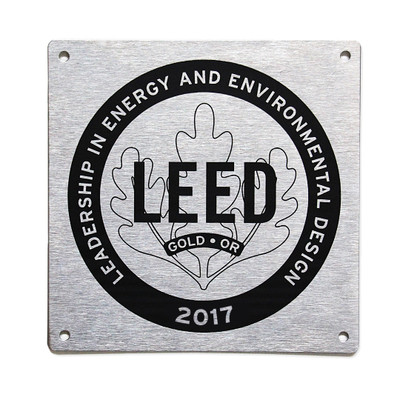 LEED Canada for Homes Plaques are available to LEED Platinum, Gold, Silver and Certified homes.