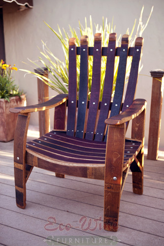 ... Chairs; WINE BARREL CHAIR. The Demonte Chair Has A Solid, Sturdy Design  With Wide Armrests. Handcrafted From Wine