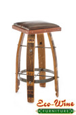 Wine Barrel Vinyl Stool