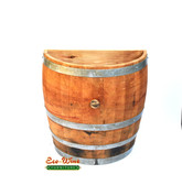 WINE BARREL THREE QUARTER BARREL WALL PLANTER STRAIGHT CUT