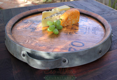 This is our small solid oak Lazy Susan featuring a smooth-rolling ball-bearing turntable and a non-toxic finish that is safe for food use. It's great for serving or simply displaying your favorite foods or cheese and crackers.