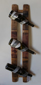 WINE BARREL THREE BOTTLE WALL DISPLAY