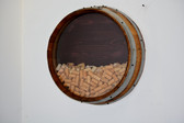 WINE BARREL CORK HOLDER ROUND WALL/ HANDMADE.