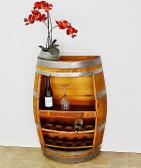 Wine Barrel Rack,  Shelf , Bottles, Books. / Handcrafted