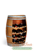 Wine Barrel Rack with Corks   / Handcrafted