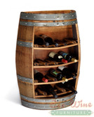 Wine Barrel Rack with Staves  / Handcrafted