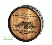 WINE BARREL 1/4  ROUND WALL/ HANDMADE. PERSONALIZED