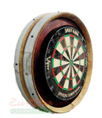 Barrel Head Dart Board Round Wall/ Handmade, Napa Valley