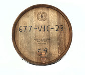 WINE BARREL 1/4  ROUND WALL/ HANDMADE WITH SPIGOT