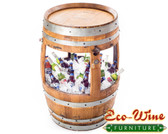 59 GALLONS  WINE BARREL WITH  30 GALLONS ICE COOLER