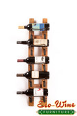 Barrel Stave Wall Wine Rack 5 Bottles