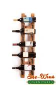 Barrel Stave Wall Wine Rack 5 Bottles