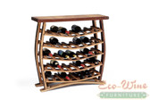 WINE BARREL WINE RACK, 34 BOTTLE