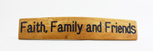 Wine Barrel Sign. Faith, Family and friends