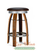 Wine Barrel Vinyl Stool Round