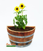 WINE BARREL HALF BARREL WALL PLANTER