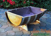 This planter is a half-barrel section with stand that has a wide variety of uses. Excellent for outdoor vegetable container gardening.