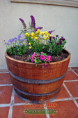This planter is a 1/2 barrel section and has a wide variety of uses. Excellent for showing your beautiful flowers.
