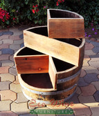 Four levels of individual compartments make this planter great for strawberry or cacti gardening.