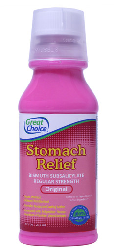 Great Choice Stomach Relief - Compare to Pepto Bismol Original 8 oz.