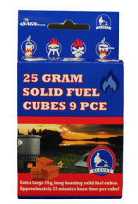 25 Gram (Extra Large) Solid Fuel Cube 9 PCE