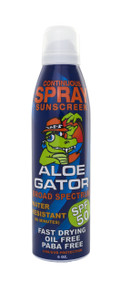 Aloe Gator Adult Continuous Spray SPF 50 (6 oz.)