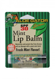 Aloe Gator Mint Lip Balm SPF 30 Carded