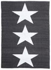 Coastal Indoor Out door Rug Star Black White (ux)