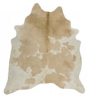 Exquisite Natural Cow Hide Beige White (ux)