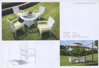 """""""Grand Garden"""" Dining table with Glass and 4 x chairs"""