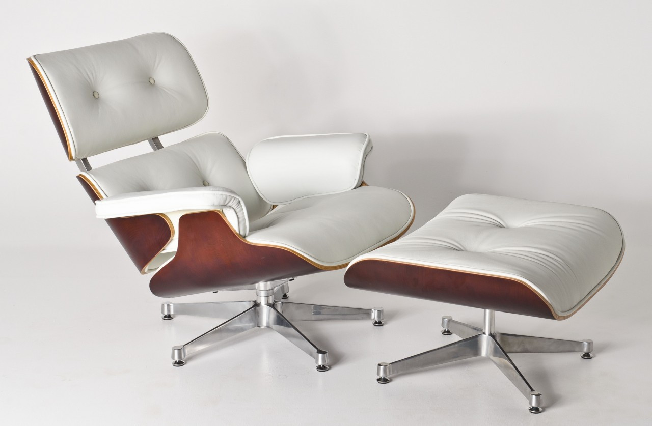 White lounge chair for Eames nachbau