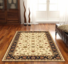 Classic Rug Ivory with Black Border (ux)
