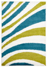 Burst Shag Rug Blue and Green (ux)