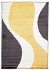 Enigma Shag Rug Yellow Charcoal White (ux)