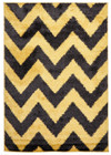 Ziggy Shag Rug Yellow Charcoal (ux)